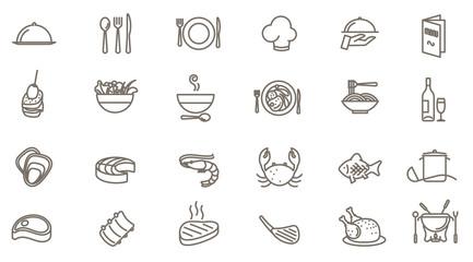 Papiers peints Restaurant restaurant vector icon set