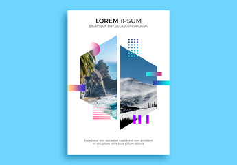Conceptual Geometric Poster Layout