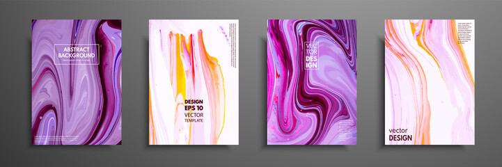 Mixture of acrylic paints. Modern artwork. Trendy design. Marble effect painting. Graphic hand drawn design for cover, poster, card, invitation, placard, brochure, flyer, etc.