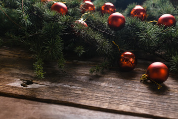 Christmas background with tree decoration