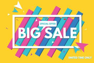 Big Sale Banner Template Design. Sale Banner.