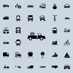 pick-up with cargo icon. transport icons universal set for web and mobile