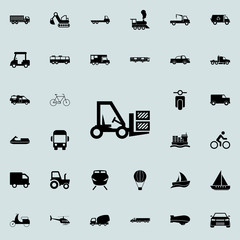 forklift icon. transport icons universal set for web and mobile