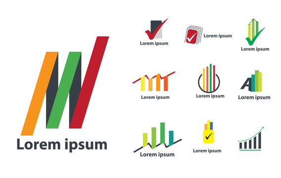 Accounting Design Logo. Concept for Finance Company