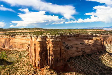 Expansive view of the deep and wide Ute Canyon in Colorado National Monument