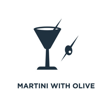 martini with olive icon