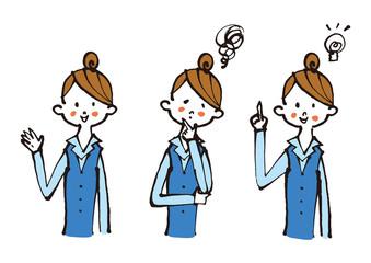女性会社員の表情