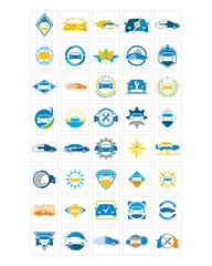automotive car icon image vector symbol logo set