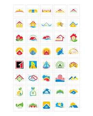 house home icon image vector symbol logo set