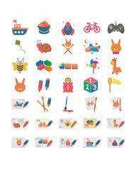 kids toy icon set image vector icon logo symbol set