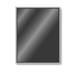 black plastic frame for photos, pictures, vector illustration