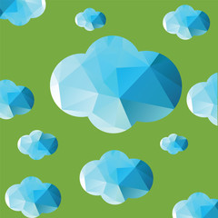 Cloud Color Background Doodle Vector