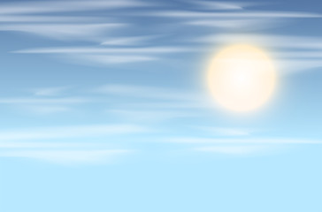Sky and sun background