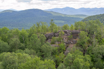 Views of the Adirondack from the top of a mountain