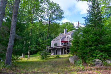 House by the Indian lake in upstate NY (USA)