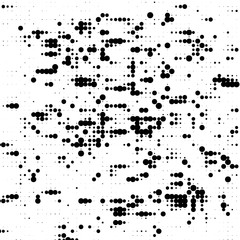 Grunge halftone pattern. Pointillism, stipplism style. Textured background with dots, circles, Points of different scale.