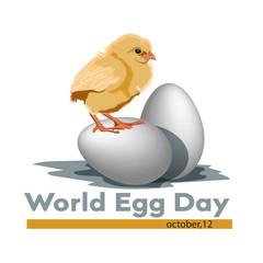 Happy World Egg Day.Vector illustration, greetings card