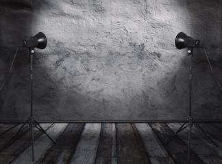 studio in old room