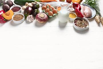 Balanced diet food concept