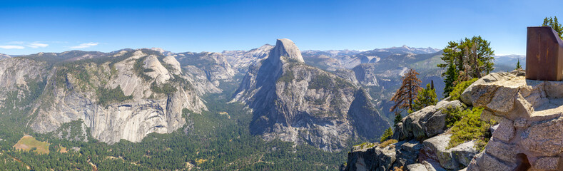 Half Dome from Glacier Point at Yosemite Wall mural