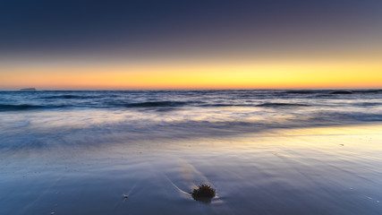 New Day Cloudless Sunrise Seascape