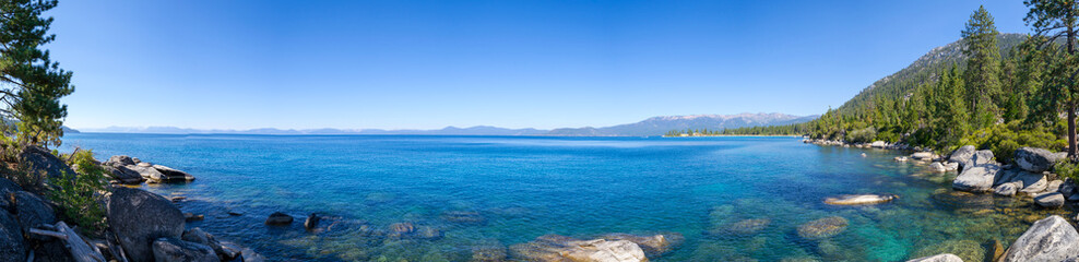 Sand Harbor in Lake Tahoe from the distance