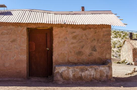 Adobe house on Machuca, Atacama Desert, Chile