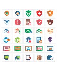 computer shield icon set image vector icon logo symbol set