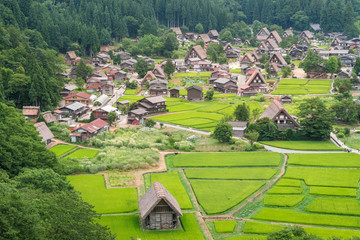Japanese traditional village of shirakawago