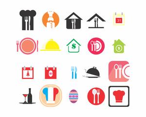 cook icon set image vector symbol logo set