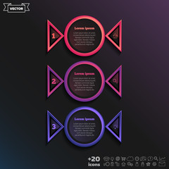 Vector infographic design with colorful circle.