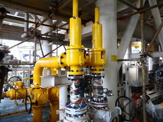 Technician work install pressure safety relief valve