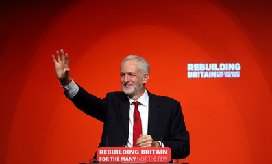 Labour Party leader Jeremy Corbyn delivers his speech at the party's conference in Liverpool