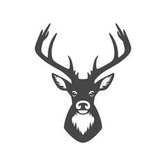Silhouette head deer, Deer head illustration vector