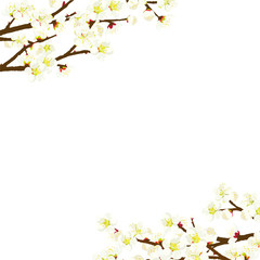 梅の花 フレームイラスト