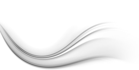 Aluminium Prints Fractal waves White background for design with fractal wave