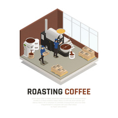 Coffee Roasting House Background