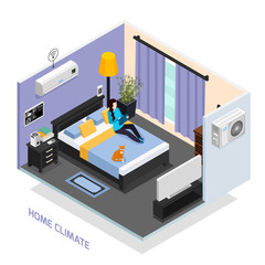 Home Climate Isometric Composition