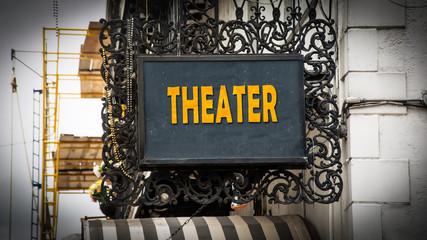 Schild 347 - Theater