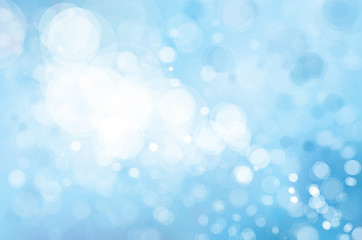 Vector blue lights  background. Winter Christmas background.