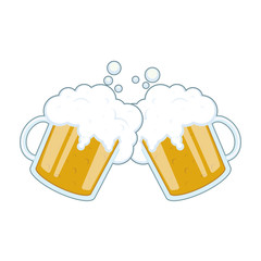 Illustration of two mugs of beer