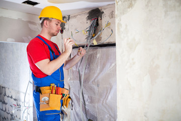 Electrical work under control of a skilled technician
