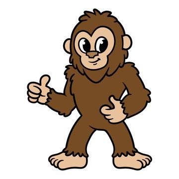 Cartoon Sasquatch or Bigfoot