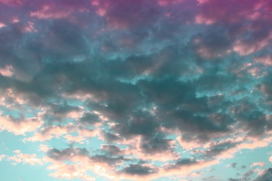 amazing bright light clouds in the sky for using in design as background.