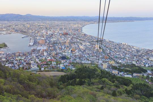 The night view in Hakodate mountain, Hakodate mount