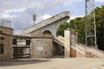 Part of entrance in city soccer stadium