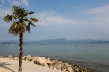 on the shores of Peschiera, Lake Garda