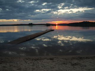 Midnight sun in Finland