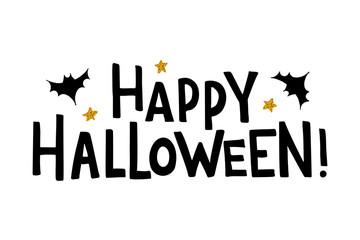 Halloween lettering typography