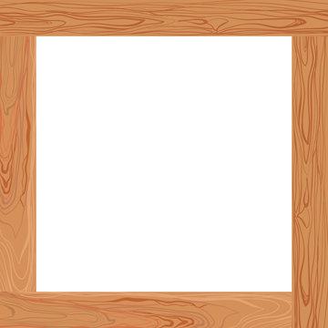 Vector Light Brown Wooden Frame, Blank Border.